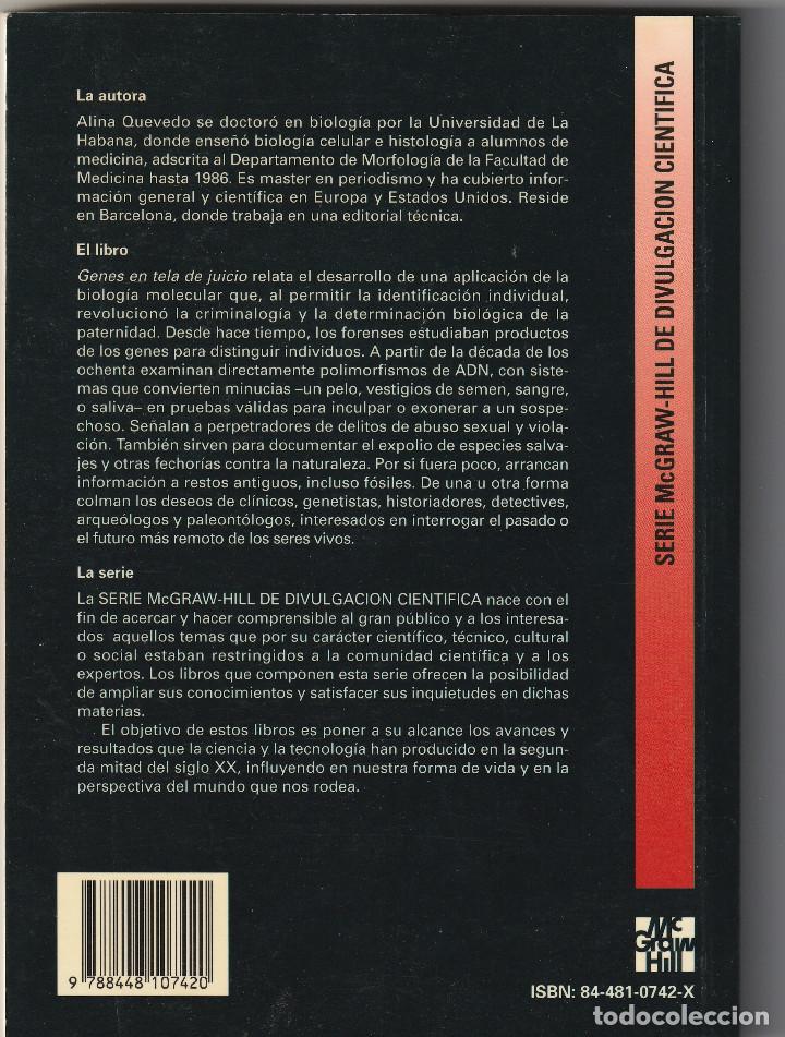 Libros: 10268 -LIBRO GENES EN TELA DE JUICIO ALINA QUEVEDO EDIT. McGRAW-HILL - Foto 2 - 233867235