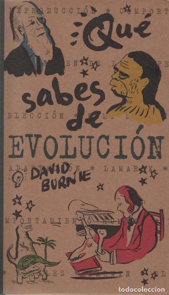 ¿QUÉ SABES DE LA EVOLUCIÓN?DAVID BURNE.EDICIONES B.1ªEDICIÓN.2000.NUEVO. (Libros Nuevos - Ciencias, Manuales y Oficios - Biología)