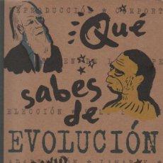 Libros: ¿QUÉ SABES DE LA EVOLUCIÓN?DAVID BURNE.EDICIONES B.1ªEDICIÓN.2000.NUEVO.. Lote 234643045