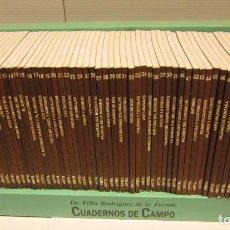 Livros: CUADERNOS DE CAMPO FELIX RODRIGUEZ DE LA FUENTE - 60 MANUALES - COMPLETA - EN SU SOPORTE ORIGINAL. Lote 242037235