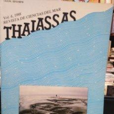 Libros: REVISTA DE CIENCIAS DEL MAR/THALASSAS-VOL 6 1988. Lote 242101215