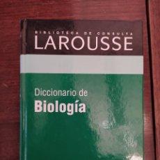 Libros: BIBLIOTECA DE CONSULTA LAROUSSE - RBA - DICCIONARIO DE BIOLOGÍA. Lote 242215355