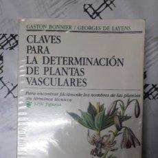 Libros: CLAVES PARA LA DETERMINACIÓN DE PLANTAS VASCULARES. BOUNIER!. Lote 244964290