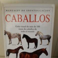 Livros: MANUAL DE IDENTIFICACION CABALLOS GUIA. Lote 266006418