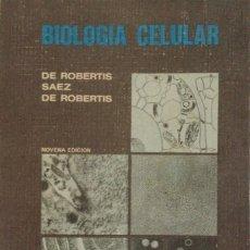 Libros: BIOLOGÍA CELULAR. DE ROBERTIS. NUEVO. Lote 287444683