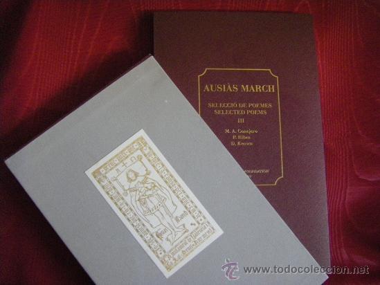 Libros: AUSIAS MARCH SELECCIÓ DE POEMES VOL III INGLÉS-VALENCIANO/CATALÁN - Foto 2 - 31773265