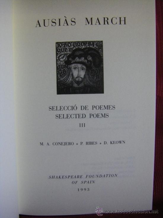 Libros: AUSIAS MARCH SELECCIÓ DE POEMES VOL III INGLÉS-VALENCIANO/CATALÁN - Foto 4 - 31773265