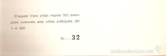 Libros: Olot. Homenatge a la Poetessa Mª Concepcion Carreras. Ed.Numerada. 1968.55 pag. Vell i Bell - Foto 3 - 57837891
