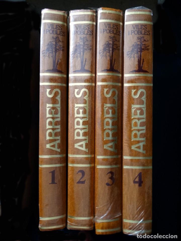 ARRELS. VILES I POBLES. 4 VOLUMS TAPA DURA – EDICIONS MATEU 1985 - NUEVO (RETRACTILADOS) (Libros Nuevos - Idiomas - Catalán )