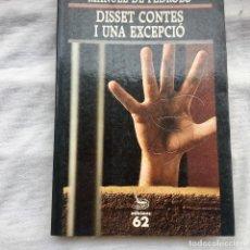 Livres: DISSET CONTES I UNA EXCEPCIÓ. MANUEL DE PEDROLO.. Lote 92494744