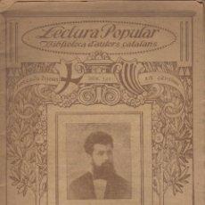 Libros: LIBRO LECTURA POPULAR BIBLIOTECA D'AUTORS CATALANS POESIES JOSEPH VERDU. Lote 98069751