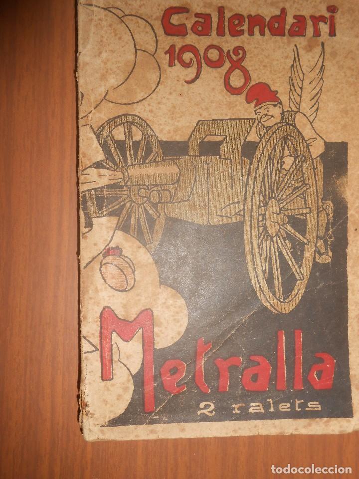 CALENDARI LA METRALLA ANY 1908 BARCELONA (Libros Nuevos - Idiomas - Catalán )