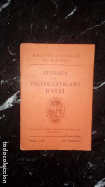 POETAS CATALANES. LITERATURA CATALANA. CATALUNYA. (Libros Nuevos - Idiomas - Catalán )
