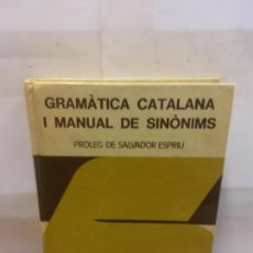 Libros: BJS.GRAMATICA CATALANA.EDT, BIBLIOGRAF... Lote 154801706