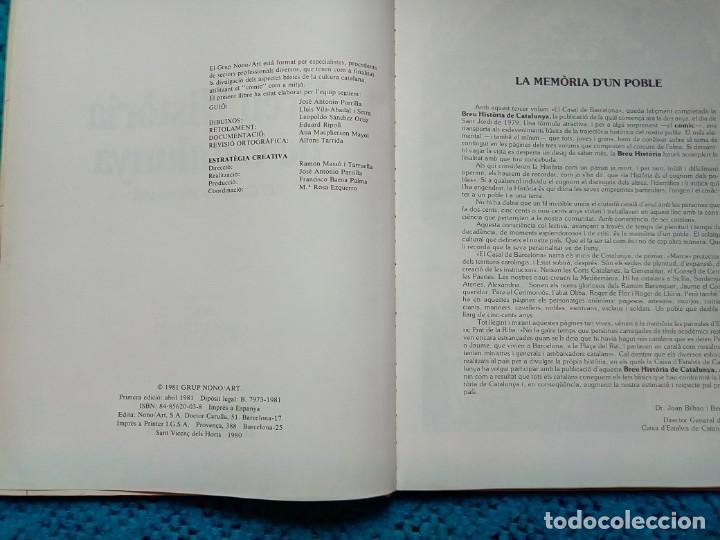 Libros: BREVE HISTORIA DE CATALUNYA GRUPO NONO/ART 1981 - Foto 2 - 159204858