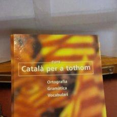 Livres: BJS.CURS CATALA PER A TOTHOM.EDT, LA VANGUARDIA.BRUMART TU LIBRERIA.. Lote 166357250