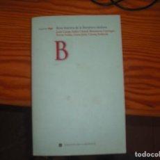 Livres: BREU HISTÒRIA DE LA LITERATURA CATALANA. Lote 167008076