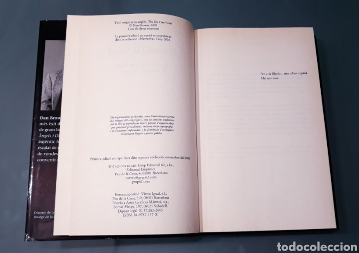 Libros: El codi Da Vinci Dan Brown - Foto 4 - 181216648