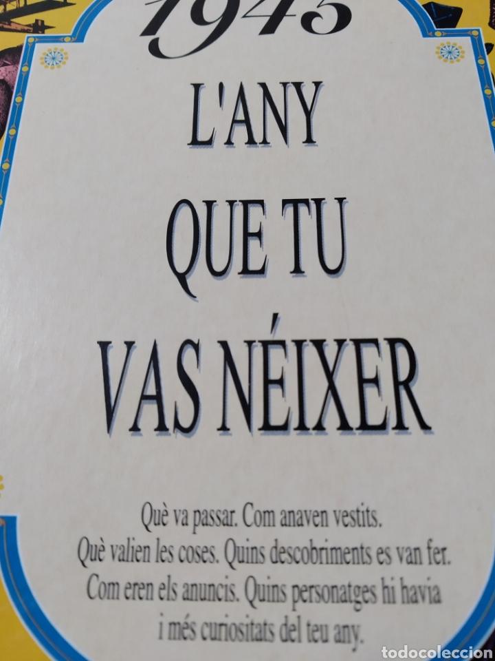 Libros: 1945 Lany que tu vas néixer. Nuevo. - Foto 3 - 192761206