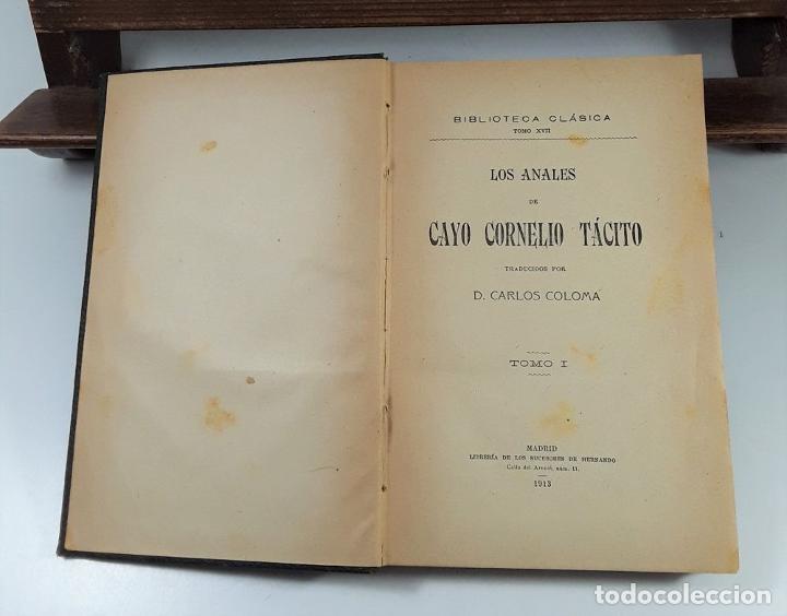 Libros: LOS ANALES DE CAYO CORNELIO TÁCITO. TOMOS I Y II. MADRID. 1913/17. - Foto 4 - 194498271