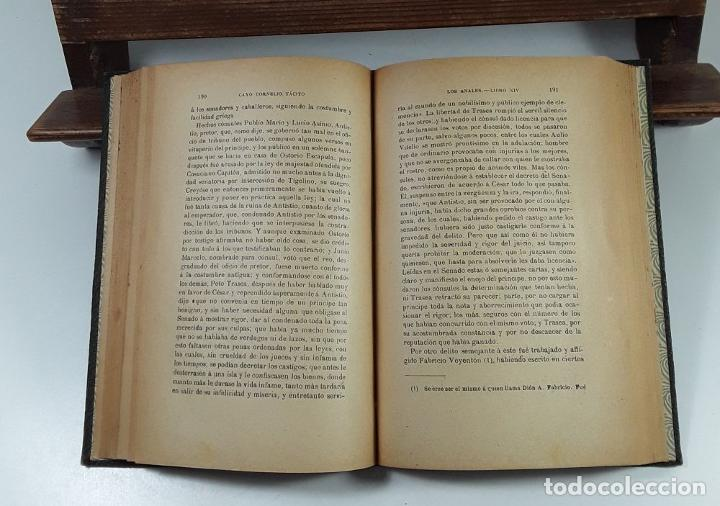 Libros: LOS ANALES DE CAYO CORNELIO TÁCITO. TOMOS I Y II. MADRID. 1913/17. - Foto 7 - 194498271