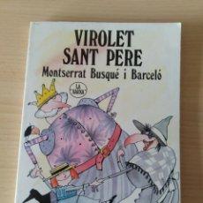 Libros: VIOLET SANT PERE. MONTSERRAT BUSQUÉ I BARCELÓ. CATALÁN. Lote 197266036