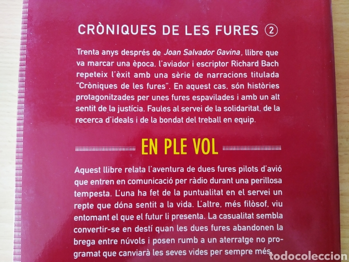 Libros: Cròniques de les Fures 2. En ple vol. Richard Bach. Catalán libro - Foto 3 - 197801745