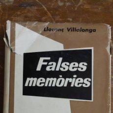 Libros: LLORENÇ VILLALONGA - FALSES MEMÒRIES DE SALVADOR ORLAN, PRIMERA EDICION PYMY 79. Lote 226383195