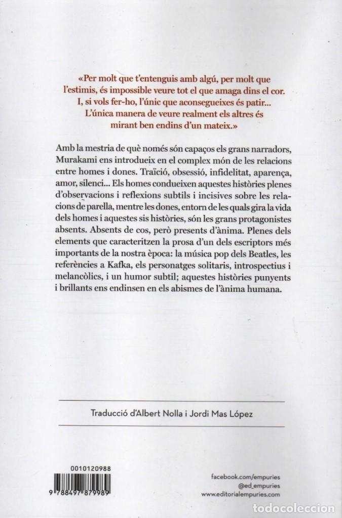 Libros: HOMES SENSE DONES - HARUKI MURAKAMI - EDITORIAL EMPURIES, 2015, 1a EDICIÓ, BARCELONA - Foto 2 - 235494060