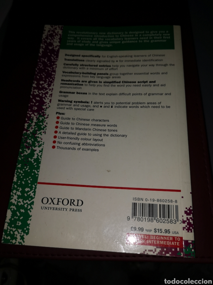 Libros: TRST4. D. LIBRO. DICTIONARY CHINESE. FIRST EDITION. OXFORD STANTEN - Foto 2 - 220731173