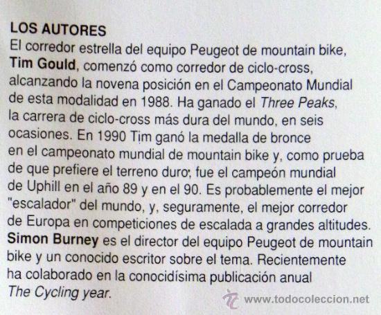 Coleccionismo deportivo: LIBRO - MOUNTAIN BIKE DE COMPETICIÓN - CICLISMO BICICLETA DE MONTAÑA DEPORTE BICIS MUY ILUSTRADO - Foto 3 - 25824216