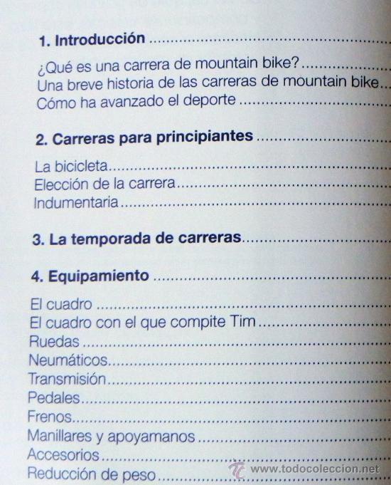 Coleccionismo deportivo: LIBRO - MOUNTAIN BIKE DE COMPETICIÓN - CICLISMO BICICLETA DE MONTAÑA DEPORTE BICIS MUY ILUSTRADO - Foto 4 - 25824216