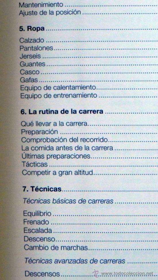 Coleccionismo deportivo: LIBRO - MOUNTAIN BIKE DE COMPETICIÓN - CICLISMO BICICLETA DE MONTAÑA DEPORTE BICIS MUY ILUSTRADO - Foto 5 - 25824216