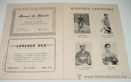 Coleccionismo deportivo: Sociedad Ciclista Bilbaina - año 1960. - Ciclismo - contiene los eventos celebrados en Bilbao durant - Foto 2 - 24953159