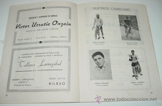 Coleccionismo deportivo: Sociedad Ciclista Bilbaina - año 1961. - Ciclismo - contiene los eventos celebrados en Bilbao durant - Foto 2 - 26406881