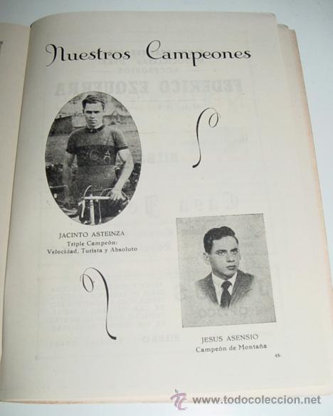 Coleccionismo deportivo: Sociedad Ciclista Bilbaina - año 1956. - Ciclismo - contiene los eventos celebrados en Bilbao durant - Foto 2 - 24953226