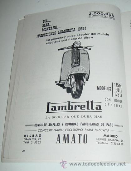 Coleccionismo deportivo: Sociedad Ciclista Bilbaina - año 1963. - Ciclismo - contiene los eventos celebrados en Bilbao durant - Foto 2 - 24953256