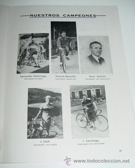 Coleccionismo deportivo: Sociedad Ciclista Bilbaina - año 1963. - Ciclismo - contiene los eventos celebrados en Bilbao durant - Foto 3 - 24953256