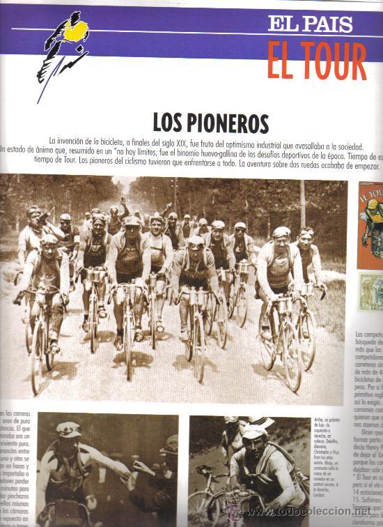 Coleccionismo deportivo: 17 BONITAS LAMINAS DE CICLISMO DE LA HISTORIA DEL TOUR-AÑO 1995 - Foto 2 - 26533336