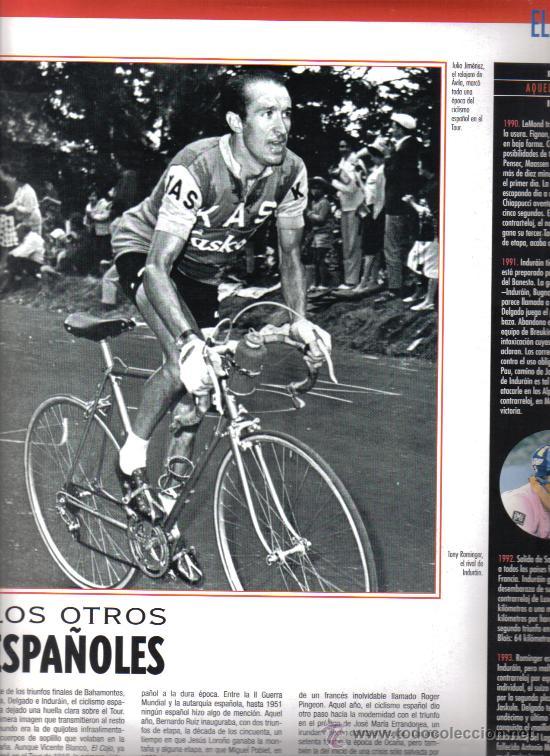 Coleccionismo deportivo: 17 BONITAS LAMINAS DE CICLISMO DE LA HISTORIA DEL TOUR-AÑO 1995 - Foto 6 - 26533336