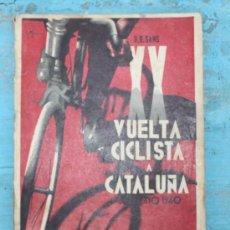 Coleccionismo deportivo: ANTIGUO Y PRECIOSO LIBRO XX VUELTA CICLISTA A CATALUÑA - PROGRAMA OFICIAL - U.D. SANS - AÑO 1940 - 1. Lote 29054090