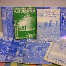 Coleccionismo deportivo: 16 LIBROS DE CICLISMO . CALENDARIO DE MARCHAS DE DIFERENTES AÑOS DE PRUEBAS ASTURIANAS. Lote 39044263
