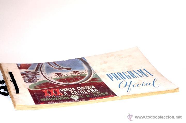 PROGRAMA OFICIAL XXX VUELTA CICLISTA A CATALUÑA GRAN PREMIO PIRELLI AÑO 1950 (Coleccionismo Deportivo - Libros de Ciclismo)