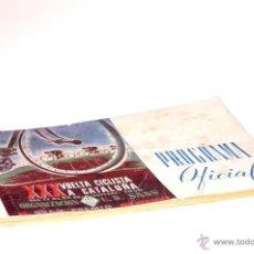 Coleccionismo deportivo: PROGRAMA OFICIAL XXX VUELTA CICLISTA A CATALUÑA GRAN PREMIO PIRELLI AÑO 1950. Lote 44908984