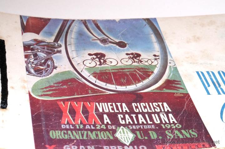 Coleccionismo deportivo: PROGRAMA OFICIAL XXX VUELTA CICLISTA A CATALUÑA GRAN PREMIO PIRELLI AÑO 1950 - Foto 2 - 44908984