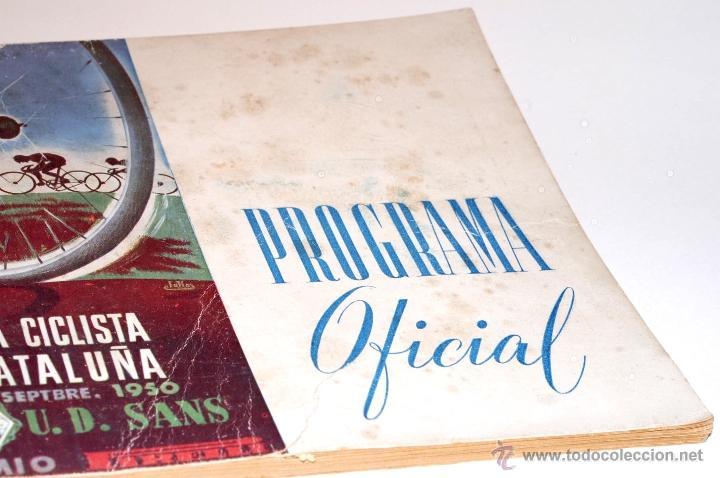 Coleccionismo deportivo: PROGRAMA OFICIAL XXX VUELTA CICLISTA A CATALUÑA GRAN PREMIO PIRELLI AÑO 1950 - Foto 3 - 44908984