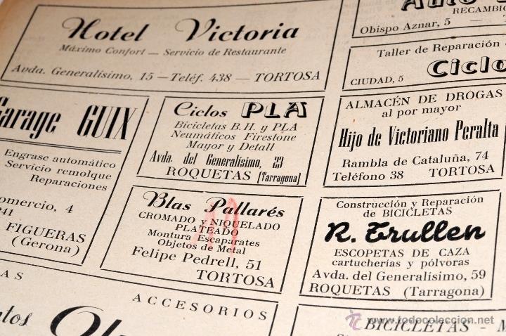 Coleccionismo deportivo: PROGRAMA OFICIAL XXX VUELTA CICLISTA A CATALUÑA GRAN PREMIO PIRELLI AÑO 1950 - Foto 10 - 44908984