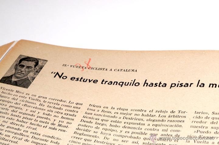 Coleccionismo deportivo: PROGRAMA OFICIAL XXX VUELTA CICLISTA A CATALUÑA GRAN PREMIO PIRELLI AÑO 1950 - Foto 12 - 44908984