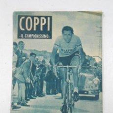 Coleccionismo deportivo: FAUSTO COPPI IL CAMPIONISSIMO. COLECCION IDOLOS DEL DEPORTE Nº 61. 28 DE ABRIL DE 1959. TDK217. Lote 47090674
