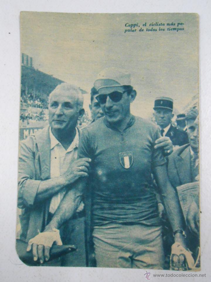 Coleccionismo deportivo: FAUSTO COPPI IL CAMPIONISSIMO. COLECCION IDOLOS DEL DEPORTE Nº 61. 28 DE ABRIL DE 1959. TDK217 - Foto 2 - 47090674